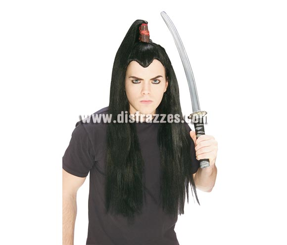Peluca de Samurai para adultos.