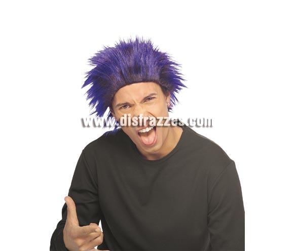 Peluca de Troll de color azul para adultos.