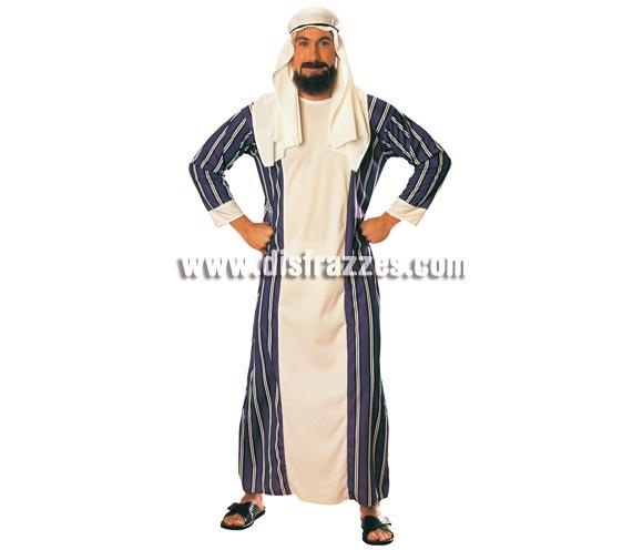 Disfraz de Árabe para hombre. Talla standar. Incluye traje y pañuelo para la cabeza. Disfraz de Jeque del petróleo.