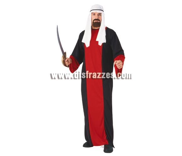 Disfraz de Ali Babá para hombre. Talla standar. Incluye gtraje y pañuelo para la cabeza. Accesorios NO incluidos, podrás verlos en la sección de Complementos. Disfraz de Árabe adulto.