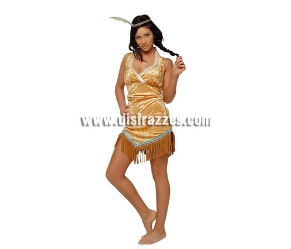 Disfraz de India Sexy Apache para mujer. Talla standar. Incluye vestido y tocado con pluma. Éste disfraz de India además de sexy es muy bonito, ¡¡cómpralo!! se te arrimarán tanto Indios, como Pistoleros, jejejeje.