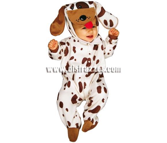 Disfraz de Perrito para Bebés de 6 a 12 meses. Incluye pelele y capucha. Tu bebé estará genial con éste traje de cachorro.