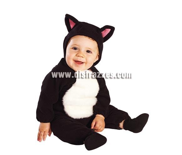 Disfraz de Gato o Gatita para bebés de 6 a 12 meses. Incluye pelele y capucha.