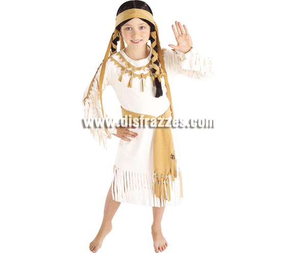 Disfraz de India para niñas de 3 a 4 años. Incluye vestido, cinturón y cinta cabeza. ¿Es bonito verdad? -Pues imagínate a tu hija con él.