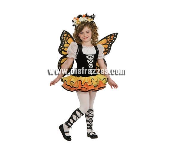 Disfraz de Ninfa Mariposa para niñas de 3 a 4 años. Incluye vestido con tutú, alas, tocado para la cabeza. Precioso disfraz para niñas cuyo precio está genial ya que viene muy completo.