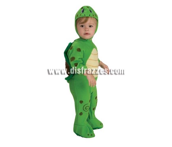 Disfraz de Tortuguita para bebés de 6 a 12 meses. Incluye traje completo y capucha. Éste disfraz de Tortuga para bebé es ideal para que tu peque vaya bien calentito.