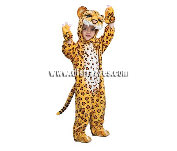 Disfraz de Leopardo para niños de 2 a 3 años. Incluye traje completo con gorro y guantes. Éste disfraz además de bonito es muy calentito para los días de frío.