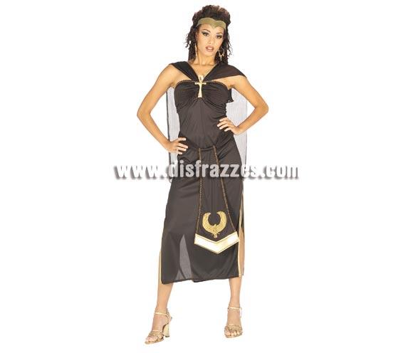 Disfraz de Nefertiti para mujer. Talla standar. Incluye vestido con cinturón, capa y tocado. Éste disfraz del antiguo Egipto es muy original y de bonito diseño, perfecto para lucir tipito.