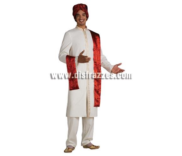 Disfraz de Bollywood Guy para hombre. Talla standar. Incluye túnica, pantalón, turbante y chal. Bonito disfraz, original y de calidad.