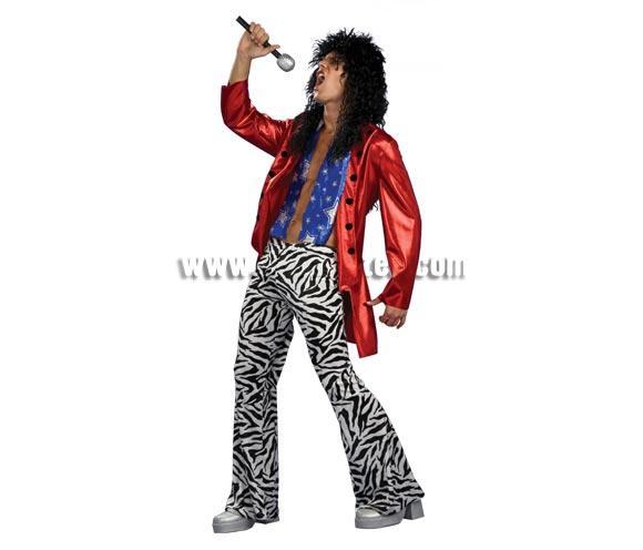 Disfraz de Heavy Metal Hero para hombre. Talla standar. Incluye chaqueta y pantalones. Éste disfraz es increible para pasárselo en grande y reirse un rato.