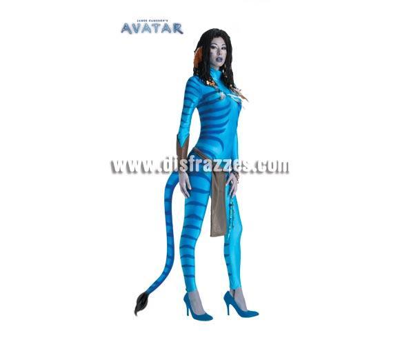 Disfraz de Neytiri de la película Avatar para mujer. Talla M = 40/42. Incluye mono con cola, delantal con adornos y brazalete. Éste disfraz sí que es auténtico y si el maquillaje te lo curras, seguro que puedes ganar algún concurso.