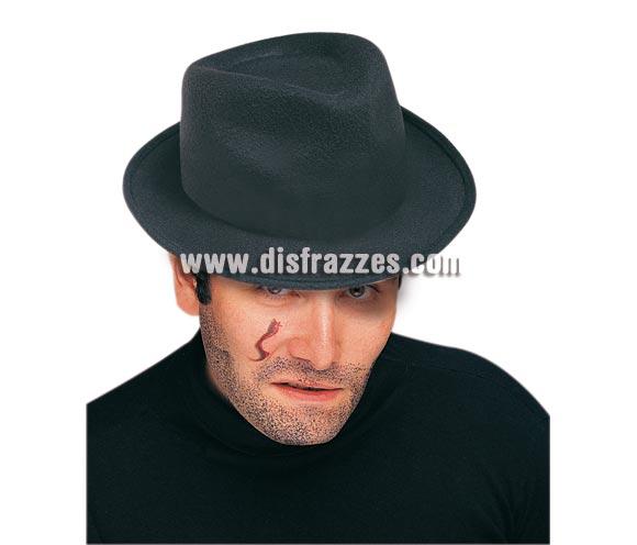 Sombrero de Gánster para adultos. Talla Universal adulto.