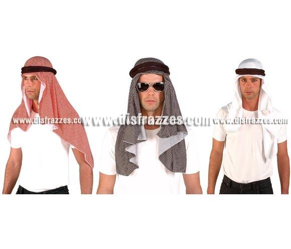 Pañuelo, Turbante o Kefia Palestina Árabe Jordana. Tres colores surtidos.