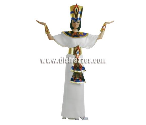 Disfraz de Cleopatra para mujer. Talla standar. Incluye túnica con adorno en cuello, gorro y muñequeras.