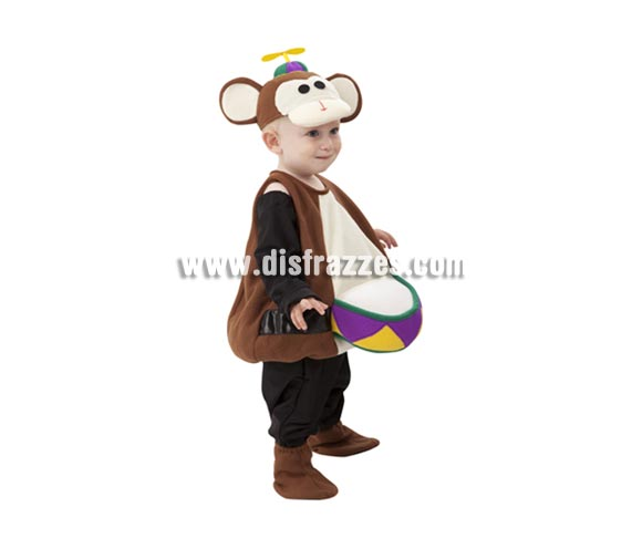 Disfraz barato de Mono de Circo para Bebés de 1 a 2 años