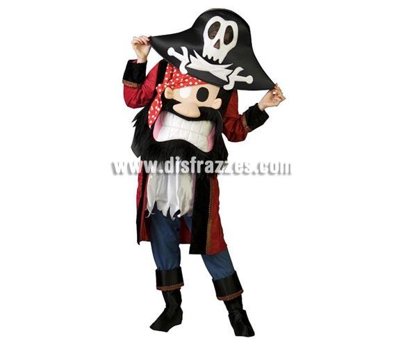 Disfraz de Pirata Especial para adultos. Talla de hombre (50) y de mujer (44). Incluye disfraz completo como en la imagen. Con éste disfraz no te ven la cara ya que ves por la calavera del sombrero y es de un diseño muy novedoso y original. ¡¡Llamarás la atención, seguro!!