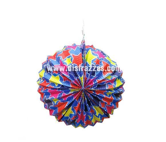 Farol decorado de estrellas de 26 cms. para decorar en tus fiestas.