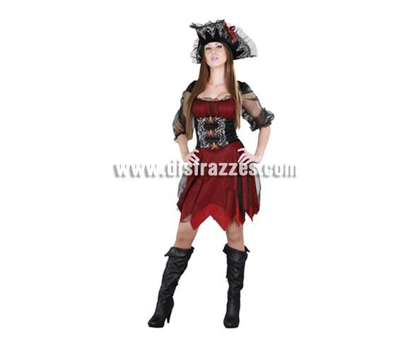 Disfraz de Pirata Sexy para chicas. Talla M-L 38/42. Incluye sombrero y vestido. También podría valer como disfraz de Mosquetera para mujer.