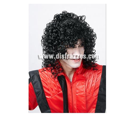 Peluca rizada de Michael Jackson. El Rey del Pop.