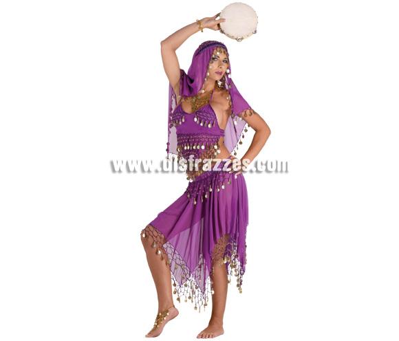 Disfraz de Bailarina Oriental para mujer. Talla 44. Incluye falda + top + pañuelo.