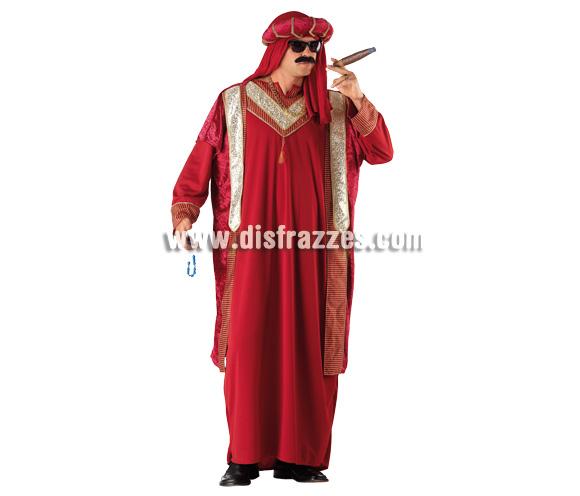 Disfraz de Sultán para hombre. Talla 54. Incluye túni + gorro. Éste disfraz de Jeque Árabe de original diseño es perfecto para cualquier fiesta.