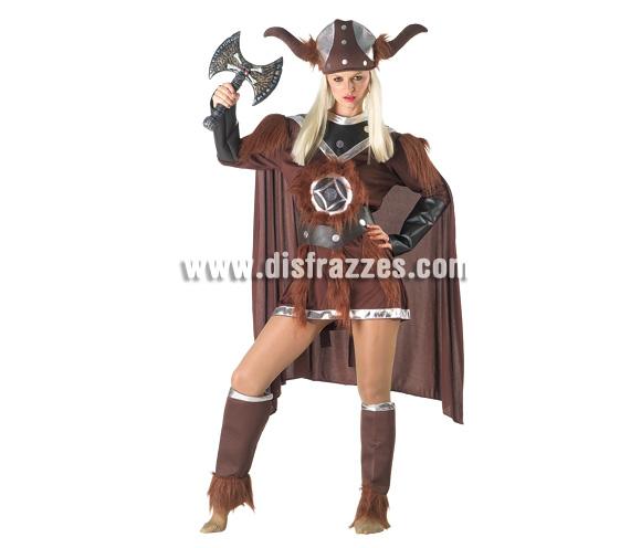 Disfraz de Vikinga para mujer. Talla 44. Incluye disfraz sin arma.