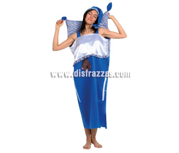 Disfraz de mujer en cama para adulta. Talla única. Incluye disfraz.