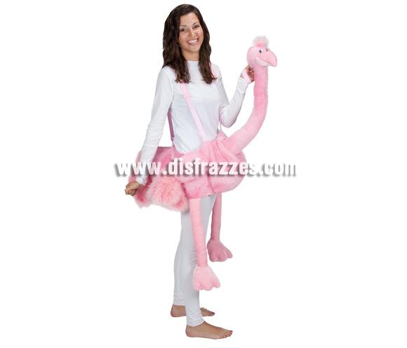 Disfraz de Flamenco Rosa para adultos. Talla única. Incluye disfraz.