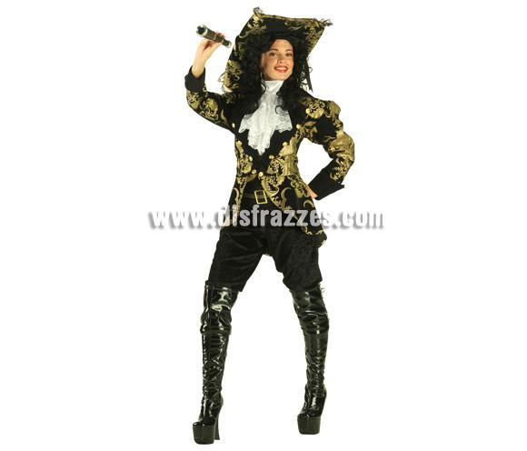 Disfraz de Pirata de los Siete Mares para mujer. Talla 44. Incluye disfraz con sombrero.