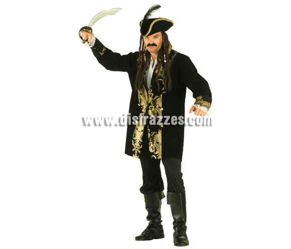 Disfraz de Pirata de los Siete Mares para hombre. Talla 54. Incluye disfraz con sombrero.