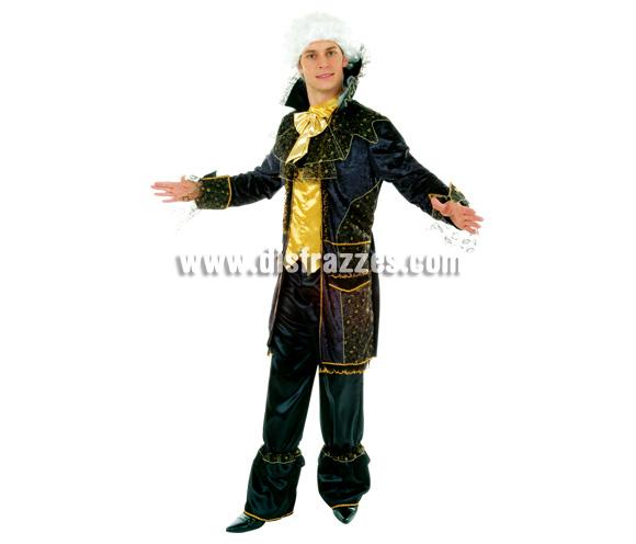 Disfraz de Marqués dorado y negro para hombre. Talla 54. Incluye disfraz.