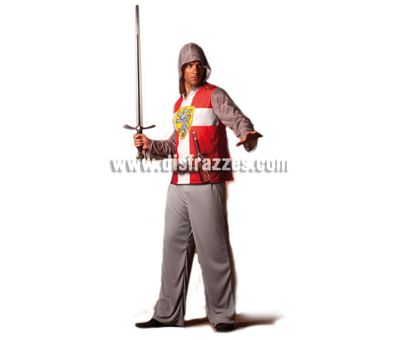 Disfraz de Caballero Medieval para hombre. Talla única. Incluye pantalón y camisa. Fíjate en la camisa, está impresa ¡qué original!