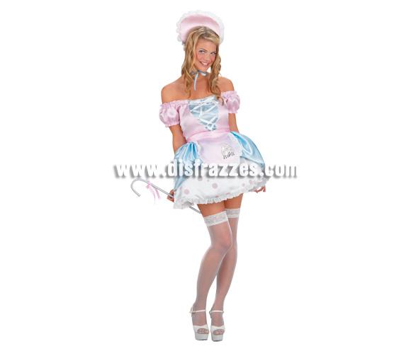 Disfraz de Doncella Sexy para mujer. Talla 38. Incluye vestido y cofia.