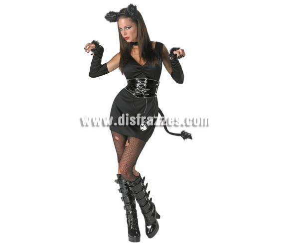 Disfraz de Gata Sexy para mujer. Talla 38. Incluye vestido, guantes, collar y diadema.