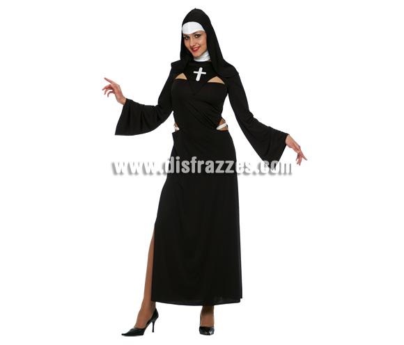 Disfraz de Monja para mujer. Talla 44. Incluye vestido.