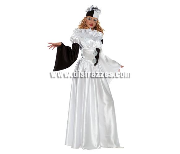 Disfraz de Colombina para mujer. Talla 44. Incluye vestido y sombrero. Disfraz de Arlequín para mujer,