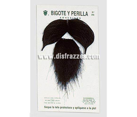 Bigote y perilla adhesivos de color negro. Perfecta para disfraces de Mosquetero, Don Quijote, Pirata, etc. etc.