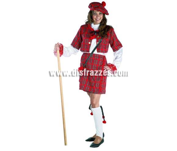 Disfraz de Escocesa para mujer. Talla standar válida hasta la 44. Incluye disfraz sin complementos.