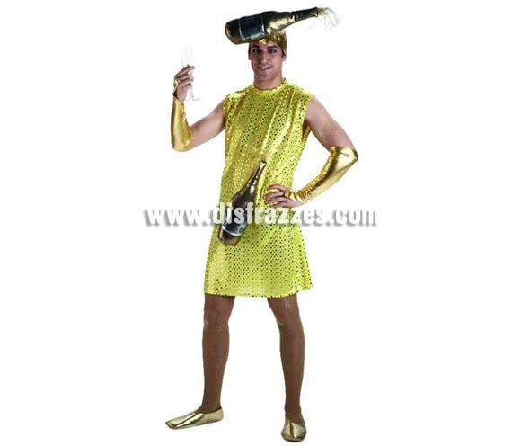Disfraz de Burbujita de Cava o de Champagne para hombre. Talla standar 52. Incluye disfraz sin zapatillas. Éste disfraz es muy, pero que muy cachondo y perfecto para Despedidas de Soltero.