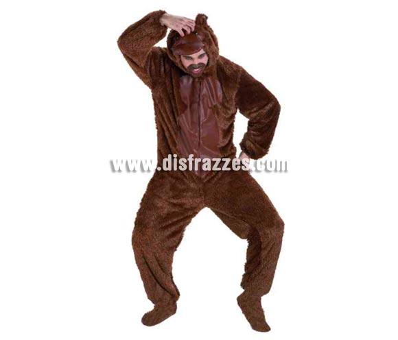 Disfraz de Mono para adultos. Talla standar 52. Incluye disfraz completo. Con éste disfraz tan calentito, harás el Orangután o el Chimpancé todo lo que puedas en Carnaval o en cualquier Fiesta del año.
