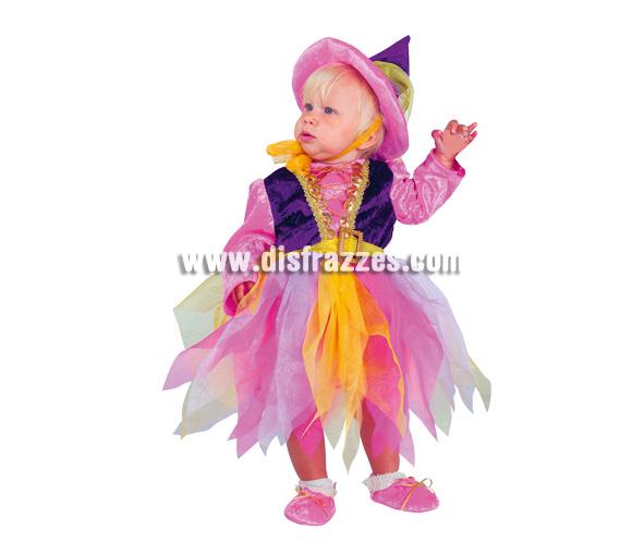 Disfraz de Bruja para bebé. Varias tallas. Incluye disfraz.