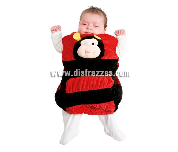 Disfraz de Mariquita para bebé. Talla de 3 a 12 meses. Incluye disfraz peluche.