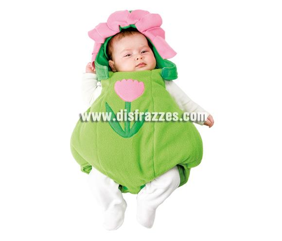 Disfraz de Tulipán para bebés. Talla de 3 a 12 meses. Incluye disfraz peluche.