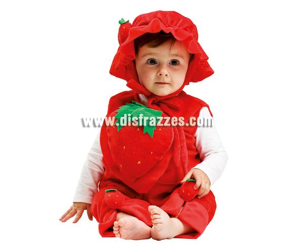Disfraz de Fresa para bebé. Talla de 3 a 12 meses. Incluye disfraz.