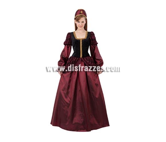 Disfraz de Princesa Medieval para mujer. Talla M-L 38/42. Incluye vestido y tocado.