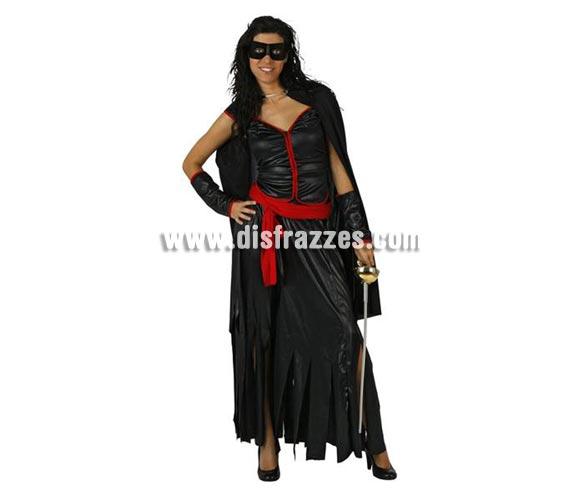 Disfraz de Heroina para mujer. Talla standar M-L = 38/42. Complementos NO incluidos. Para disfrazarse de la mujer del Zorro.
