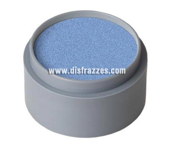 Maquillaje al agua (water make-up 730), de 15 ml. Color azul perla. -Fácil de usar, (como acuarelas). -Se quita con agua y jabón. -Antialérgico.