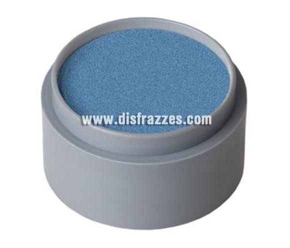 Maquillaje al agua (water make-up 731), de 15 ml. Color Azul Fuerte perla. -Fácil de usar, (como acuarelas). -Se quita con agua y jabón. -Antialérgico.