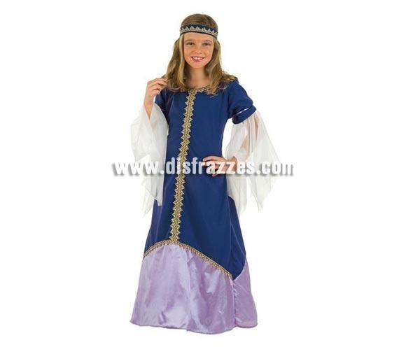 Disfraz de Medieval Recina para niñas. Varias tallas. Incluye vestido y cinta del pelo.
