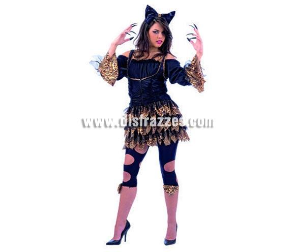 Disfraz de Lolitas Tigresa Deluxe. Alta calidad, hecho en España. Diponible en varias tallas. Incluye vestido, camisa, diadema y cinta de las piernas. Leggins No incluidos.